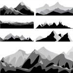 Mountain set vector...
