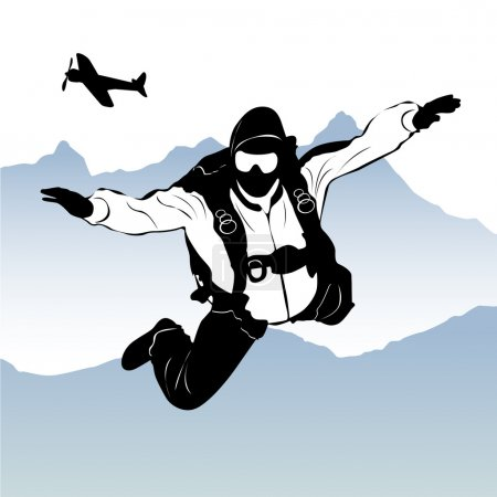 Paragliding silhouette vector...