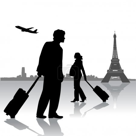 Illustration for Travel silhouette design vector - Royalty Free Image