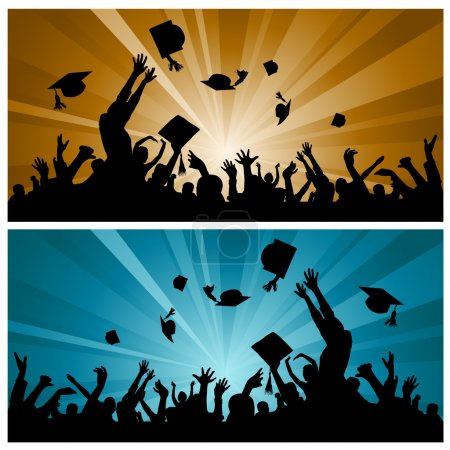 Illustration for Graduation party vector - Royalty Free Image