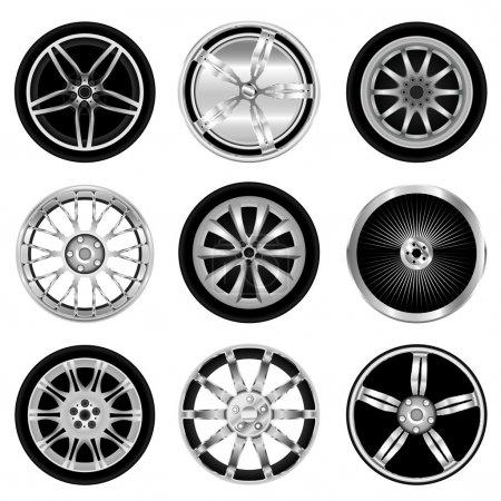 Sporty aluminum wheel