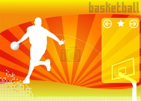 Illustration for Basketball concept background vector - Royalty Free Image