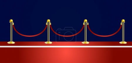 Red carpet vector...