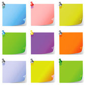 Post it note paper set vector
