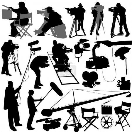 Cameraman and film set accessories