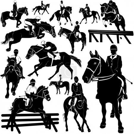 Horse, equestrian set