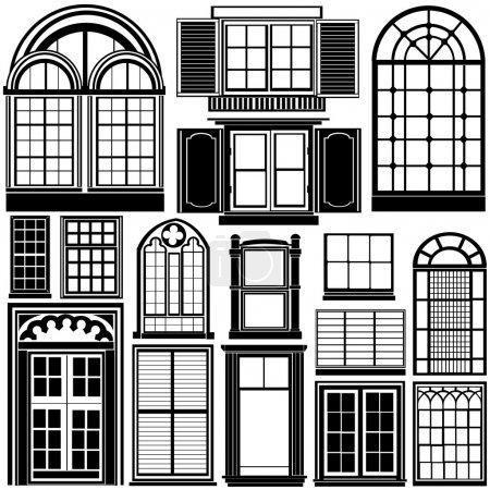 Illustration for Window vector set - Royalty Free Image