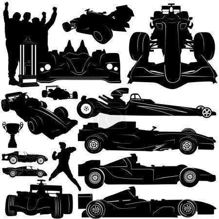 Formula and race car vector