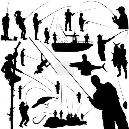 Fishermen and fishing equipment