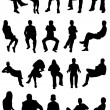 Collection of sitting vector...