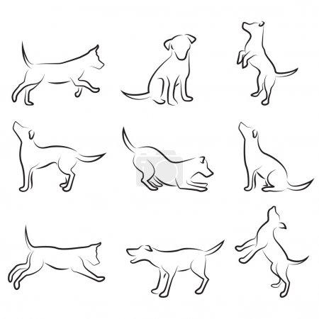 Illustration pour Jeu de dessin pour chien - image libre de droit