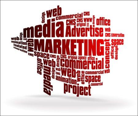 Illustration pour Représentation graphique des professions et activités liées au marketing. Pour plus d'illustration, veuillez visiter ma galerie :)) Merci - image libre de droit