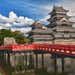 Beautiful medieval castle Matsumoto in the eastern...