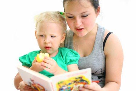 Nurse reads a book