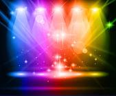 """Постер, картина, фотообои """"Волшебные лампы с Rainbow лучей"""""""