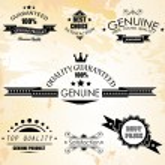 Premium Quality Labels - Collection of retro bi-co...