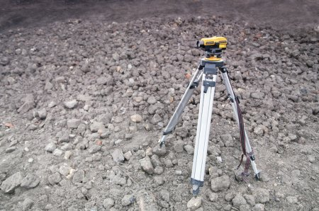 Setting out on construction site - geodesy