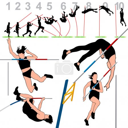 Pole Vault Athletes Set