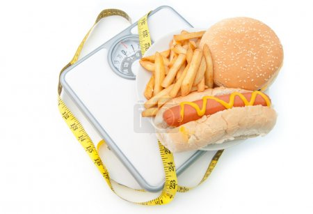 Weighing scales bad diet