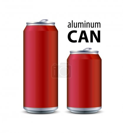 Illustration for Two Red Aluminum Can - Royalty Free Image