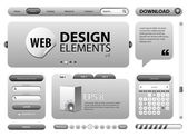 Round Corner Web Design Graphite Gray Elements