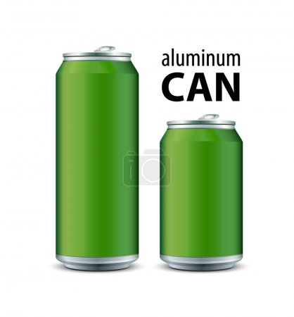 Illustration for Two Green Aluminum Can - Royalty Free Image