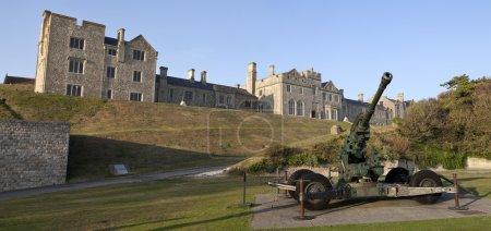 mess des officiers et artillerie de la Seconde Guerre mondiale au château de Douvres