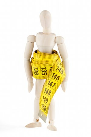 Dummy with measuring tape