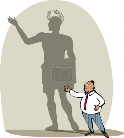 Businessman and his shadow