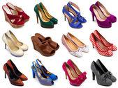 Pestrobarevné ženské boty-4