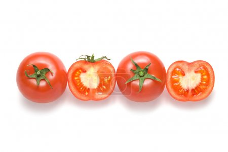 Photo for Sliced tomatoes on a white background - Royalty Free Image