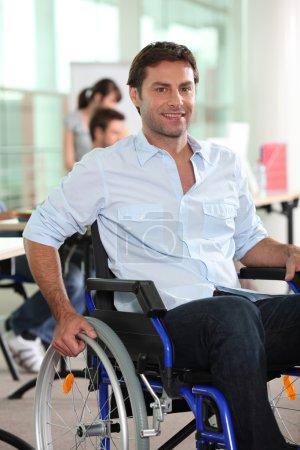 Businessman in a wheelchair