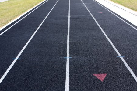 Lanes of a running track