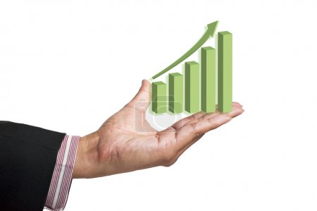 Graphs on hand of businessmen