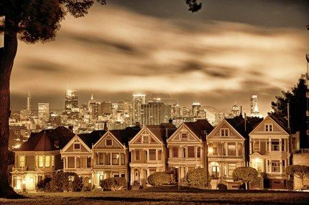 San Francisco Victorian homes at Alamo Square