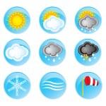Постер, плакат: Weather icons set