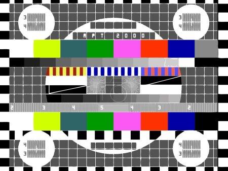 Tv color test pattern - test card, vector