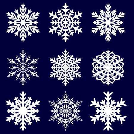 Decorative snowflake. Vector illustration.