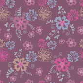 Field flowers seamless pattern