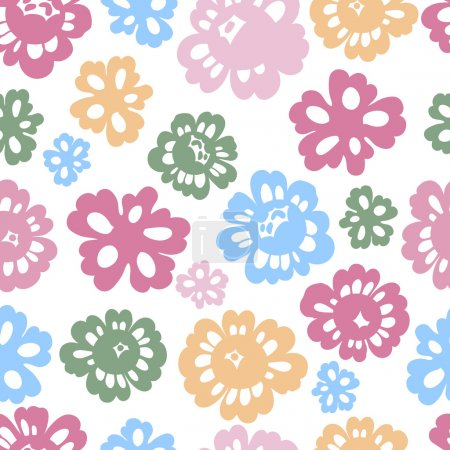 Sping flowers seamless pattern