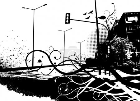 Illustration for Urban city vector - Royalty Free Image