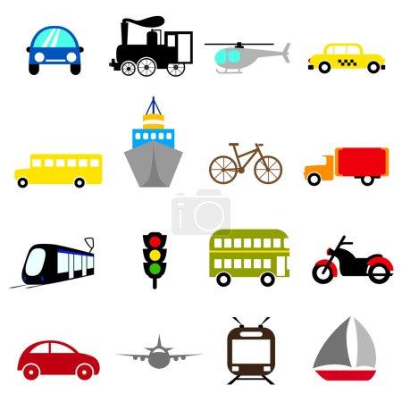 Illustration for Transportation icon set - Royalty Free Image