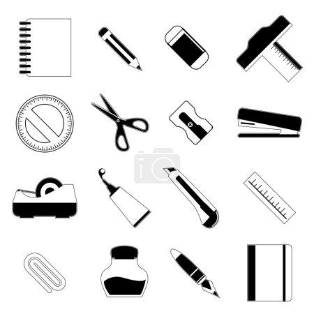 Stationery object set