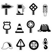 Traffic icon set vector