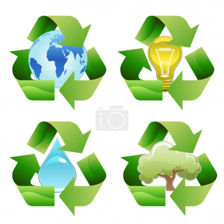 Illustration for Vector recycle symbols - Royalty Free Image
