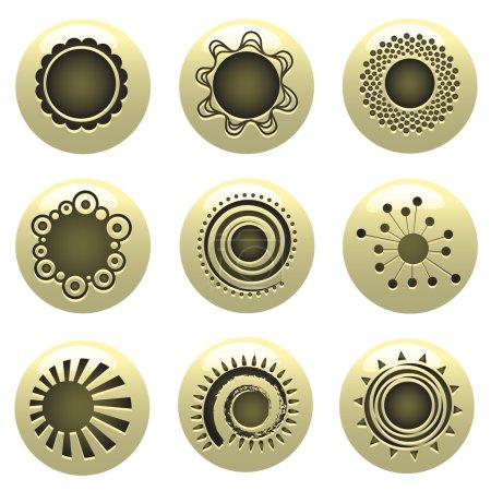 Illustration for Floral symbols set - Royalty Free Image