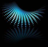 Nový lesklý mocné modrá obchodní koncept polotónů vektor