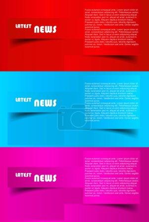 Design of advertisement brochure vector