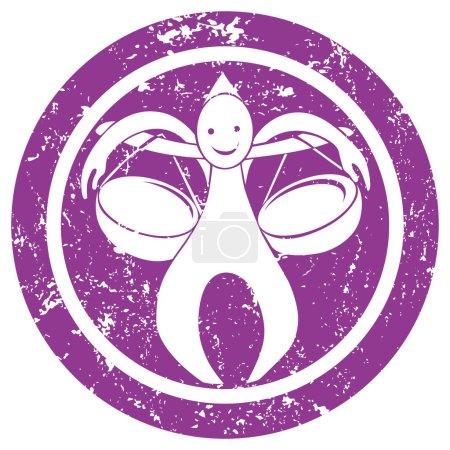 Zodiac sign Libra stamp