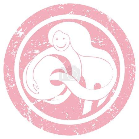 Zodiac sign aquarius stamp